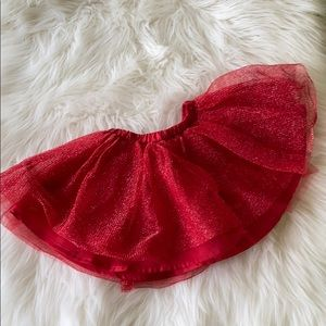 Gymboree red sparkle tutu size 2t